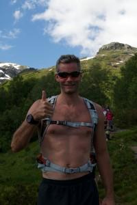 Thomas Alsgaard med Hovlandsnuten i bakgrunnen
